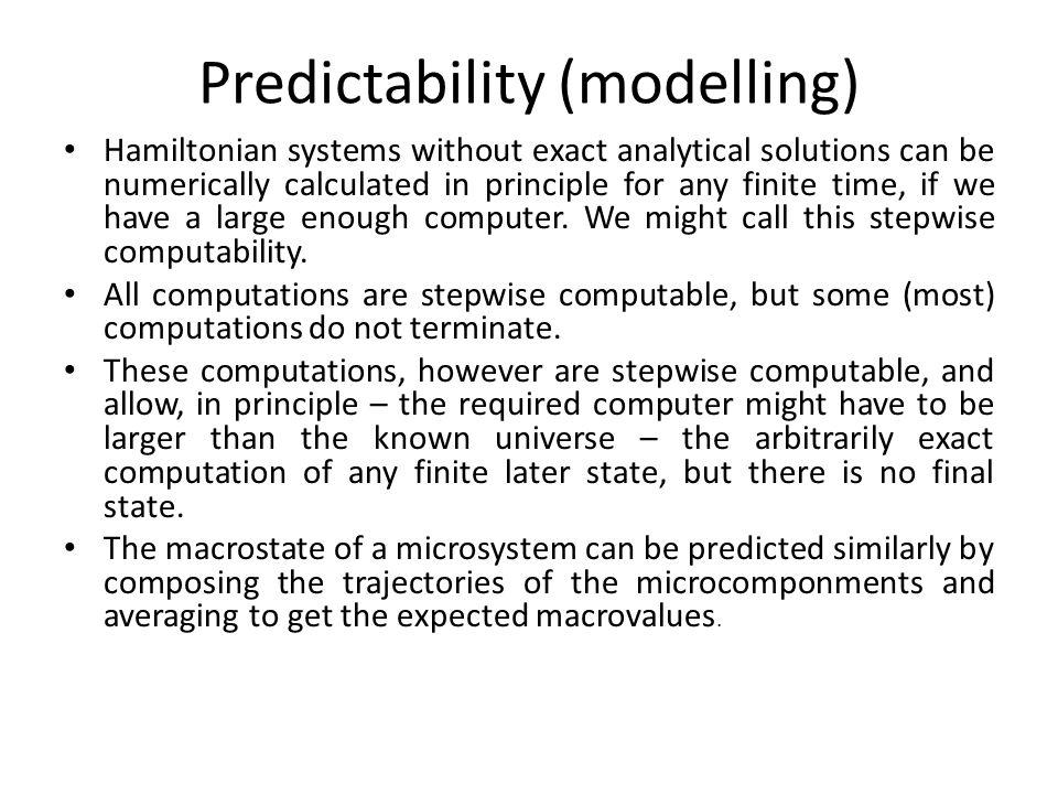 Predictability (modelling)