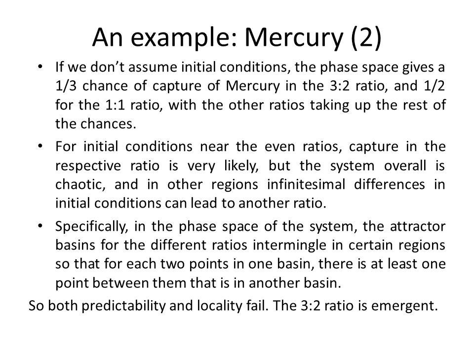 An example: Mercury (2)