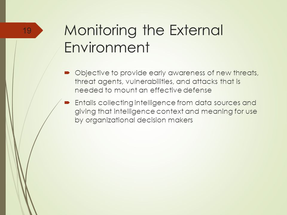 Monitoring the External Environment