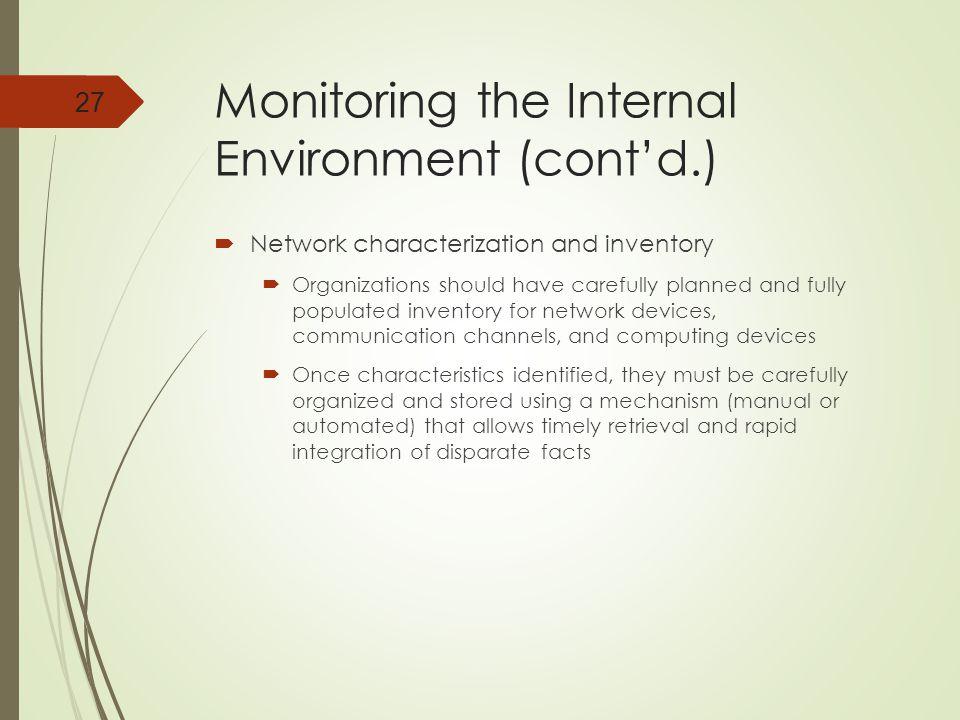 Monitoring the Internal Environment (cont'd.)