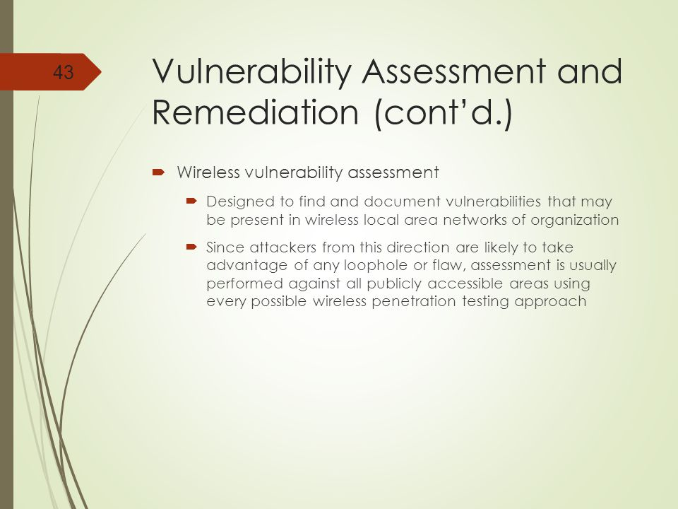 Vulnerability Assessment and Remediation (cont'd.)