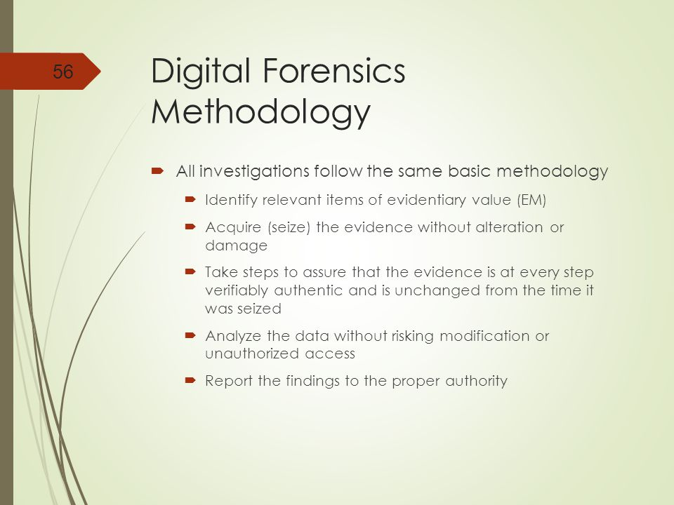 Digital Forensics Methodology