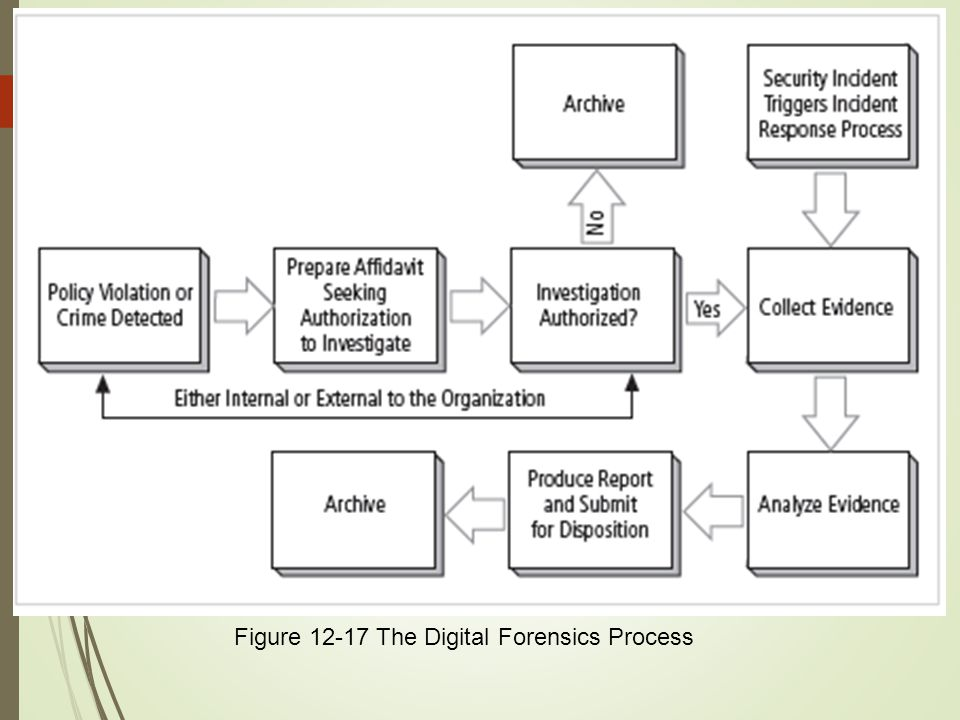 Figure 12-17 The Digital Forensics Process