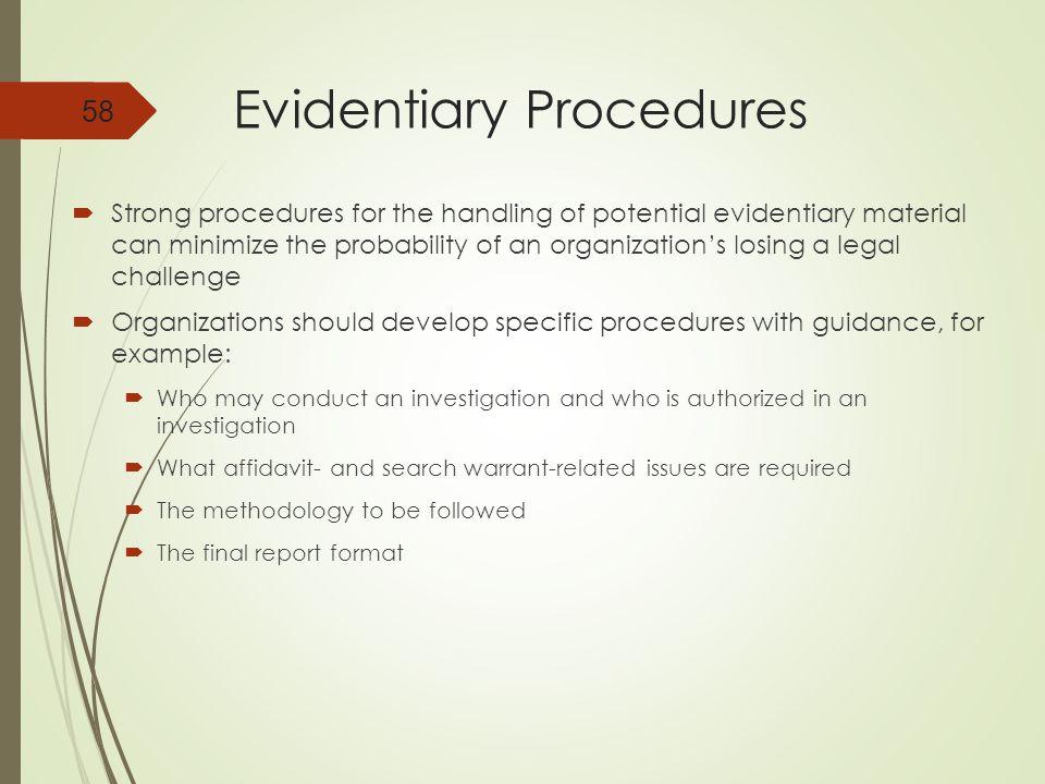 Evidentiary Procedures