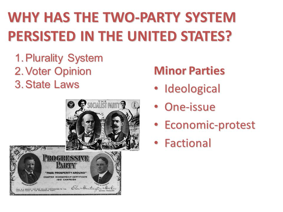 WHY HAS THE TWO-PARTY SYSTEM PERSISTED IN THE UNITED STATES
