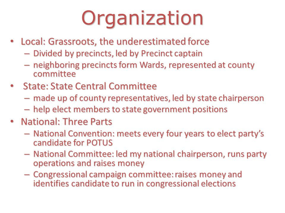 Organization Local: Grassroots, the underestimated force