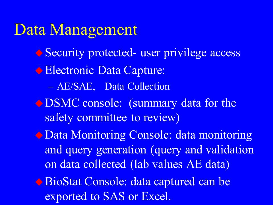 Data Management Security protected- user privilege access