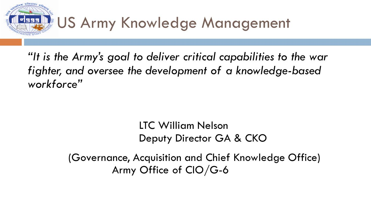 US Army Knowledge Management