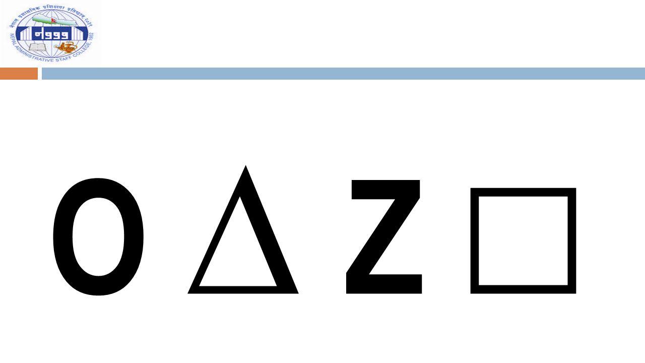 O ∆ Z □