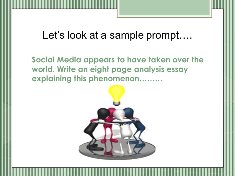 Let's look at a sample prompt….