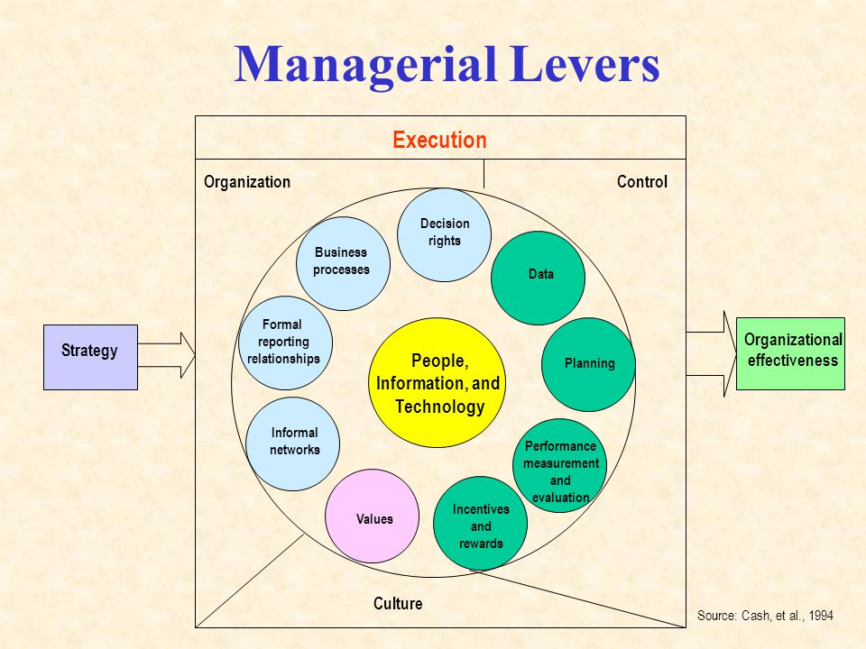 Managerial Levers Execution People, Information, and Technology