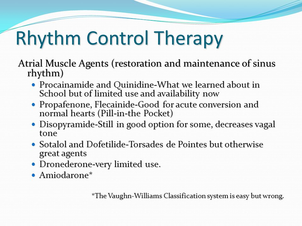 Rhythm Control Therapy