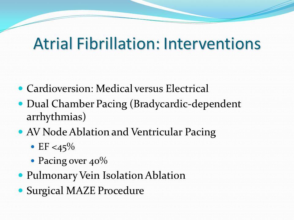 Atrial Fibrillation: Interventions