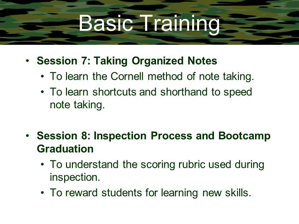 Basic Training Session 7: Taking Organized Notes