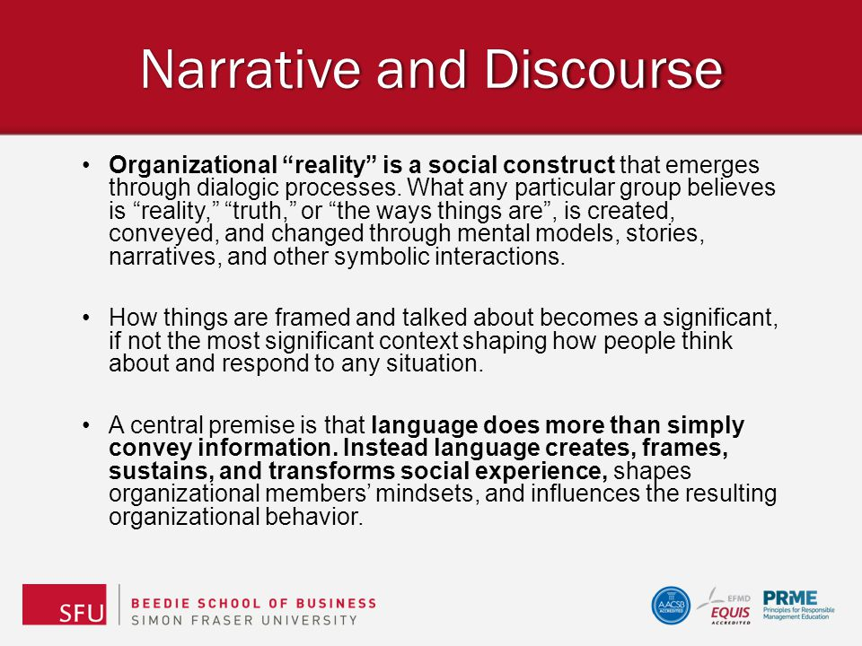 Narrative and Discourse
