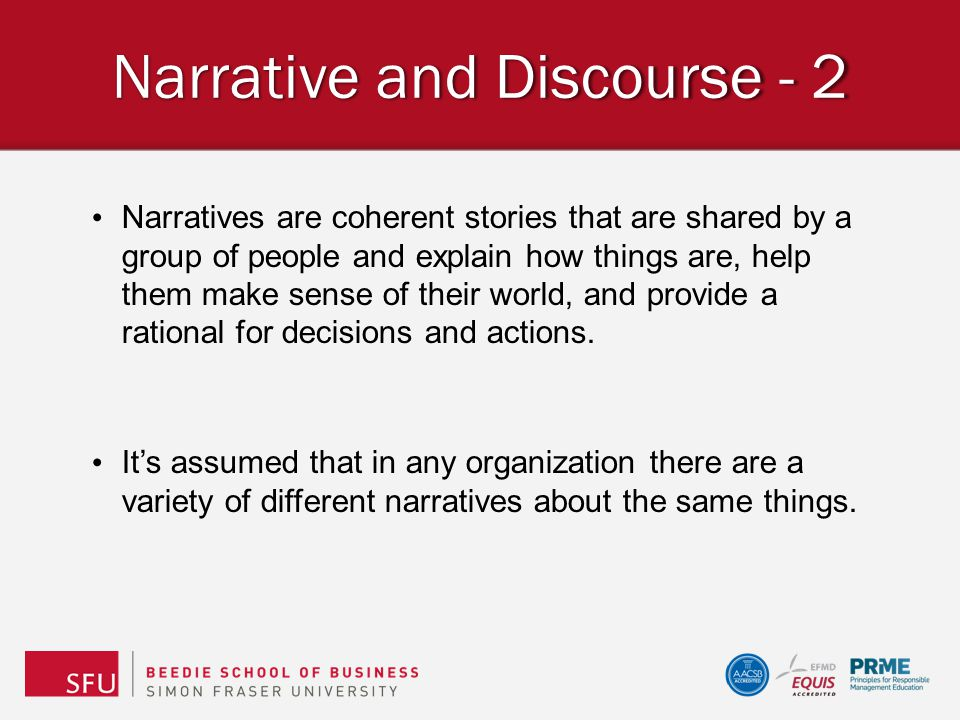 Narrative and Discourse - 2