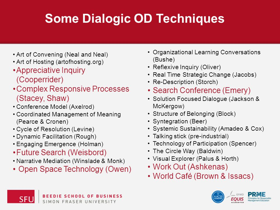 Some Dialogic OD Techniques