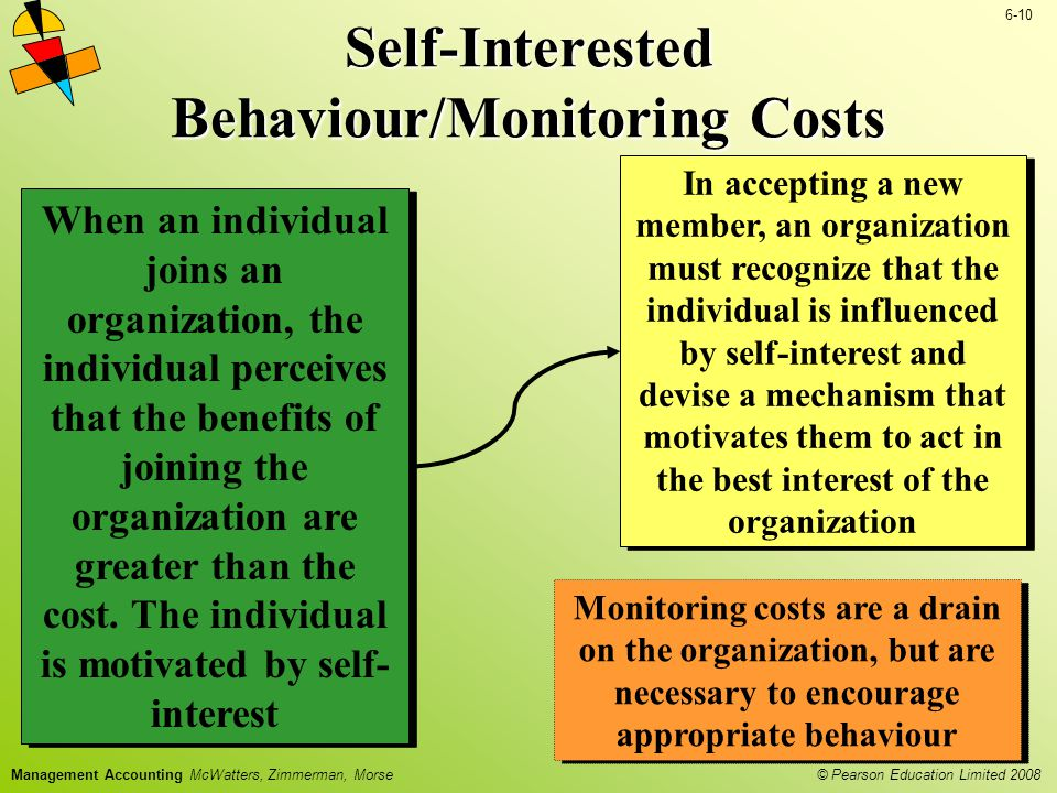 Self-Interested Behaviour/Monitoring Costs
