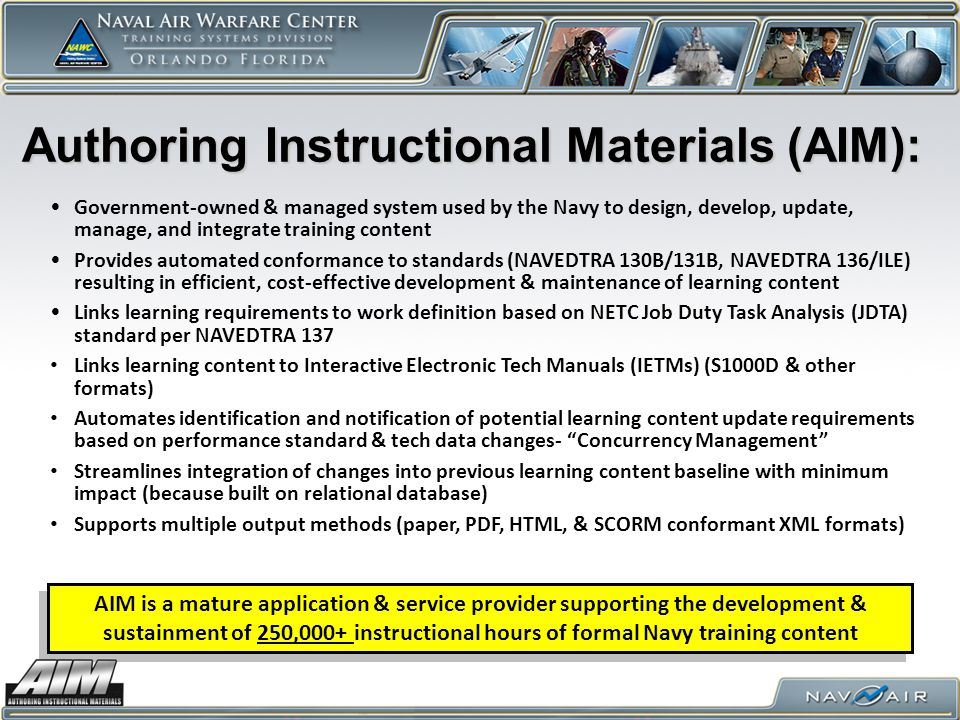 Authoring Instructional Materials (AIM):