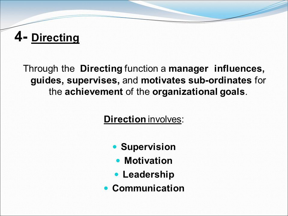 4- Directing