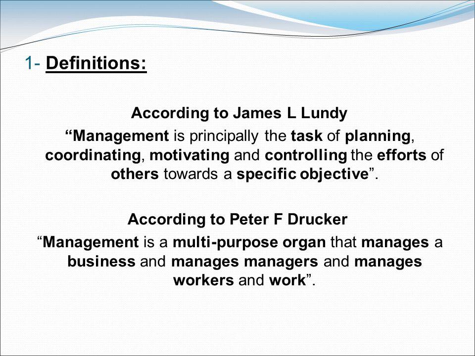 According to Peter F Drucker
