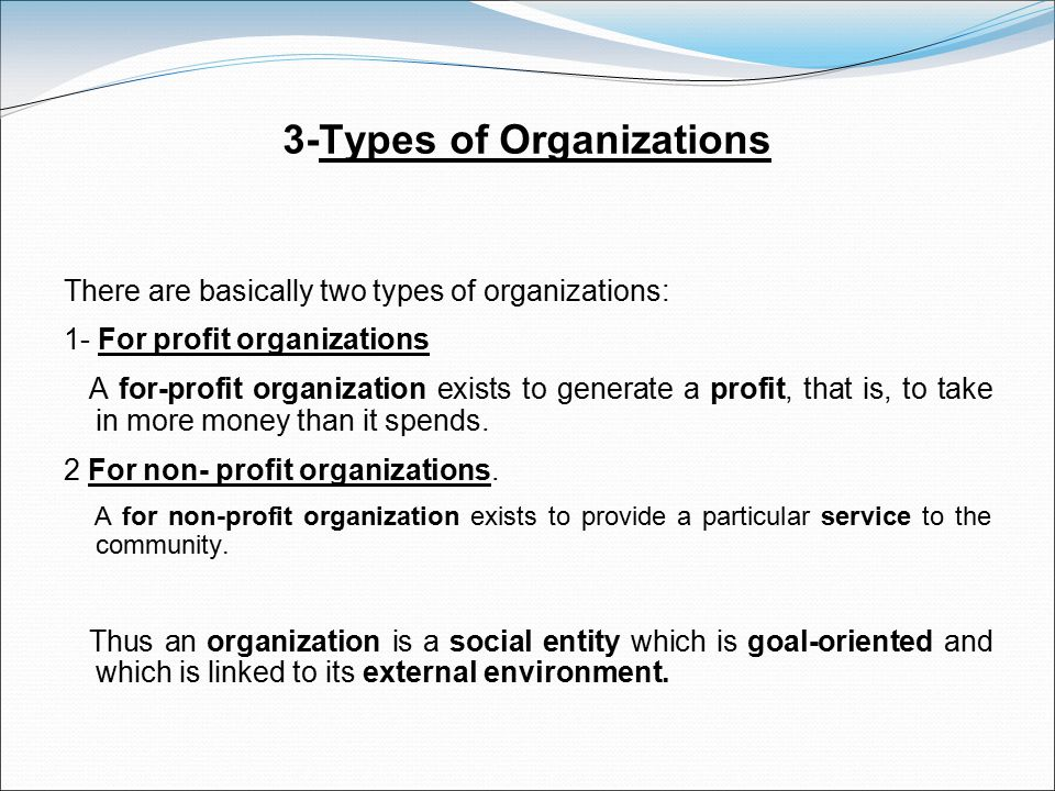 3-Types of Organizations