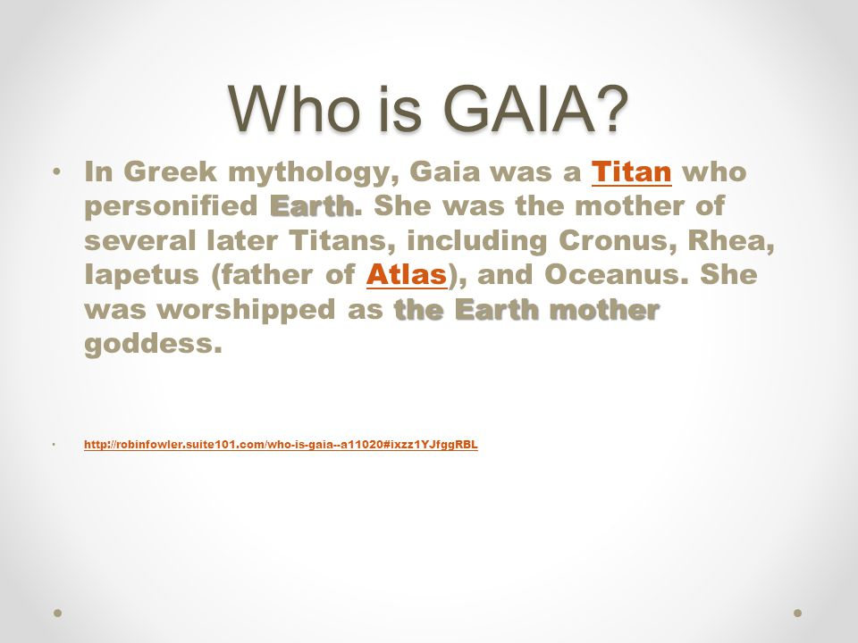 Who is GAIA