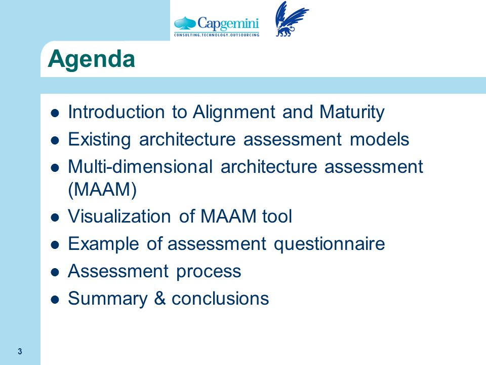 Agenda Introduction to Alignment and Maturity