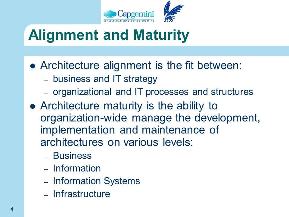 Alignment and Maturity