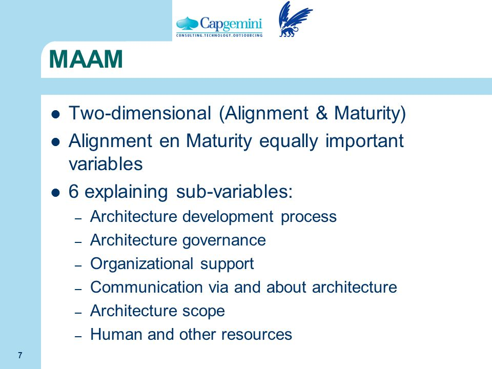 MAAM Two-dimensional (Alignment & Maturity)