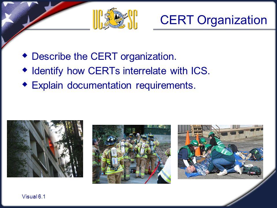 CERT Organization Describe the CERT organization.