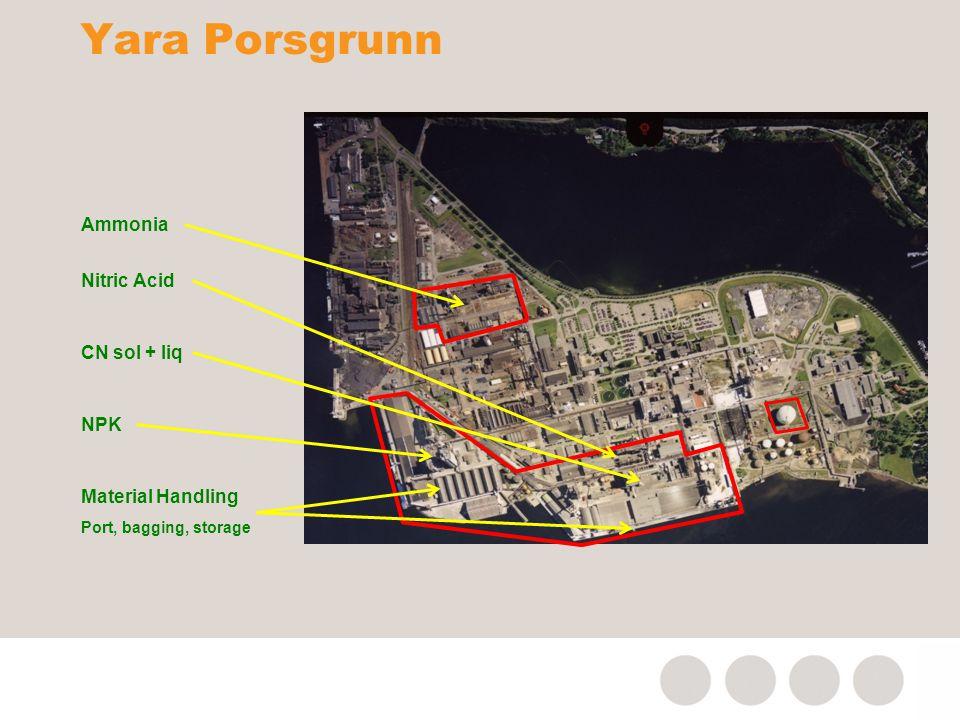 Yara Porsgrunn Ammonia Nitric Acid CN sol + liq NPK Material Handling