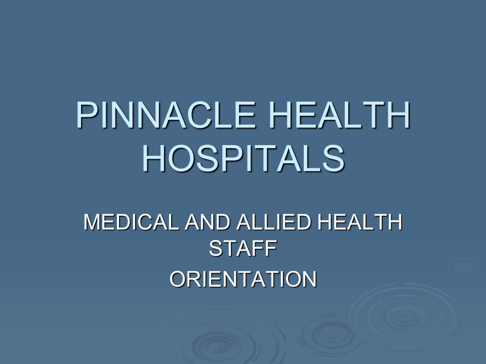 PINNACLE HEALTH HOSPITALS