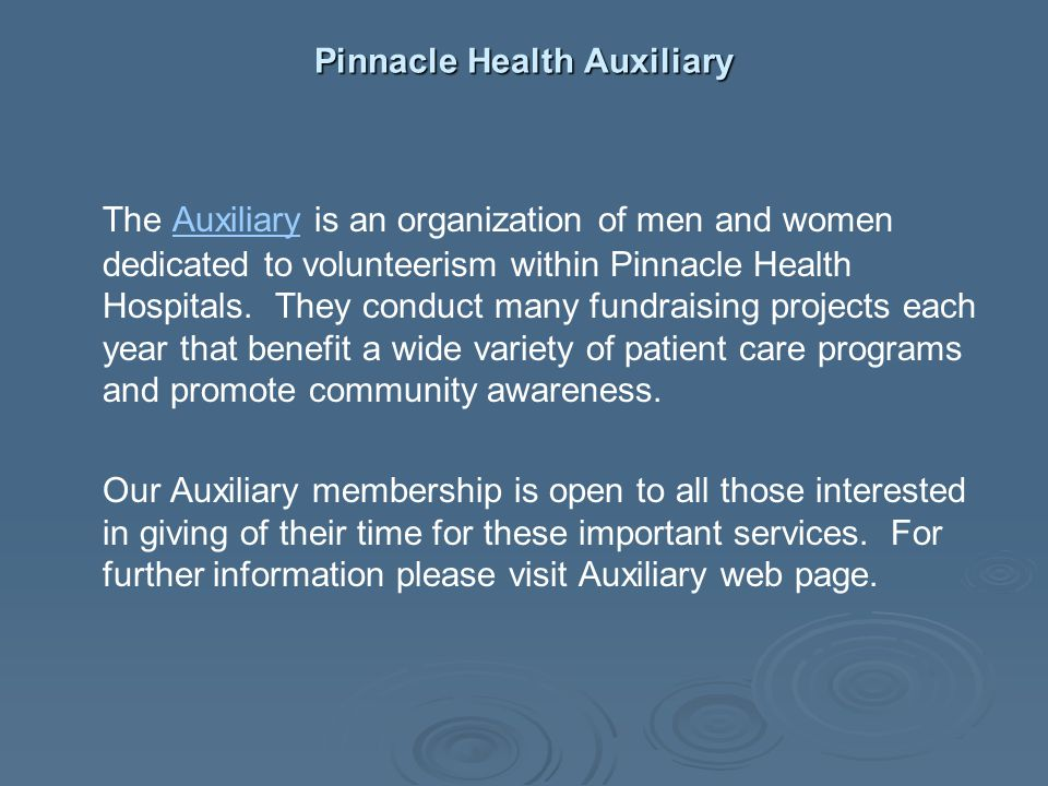 Pinnacle Health Auxiliary