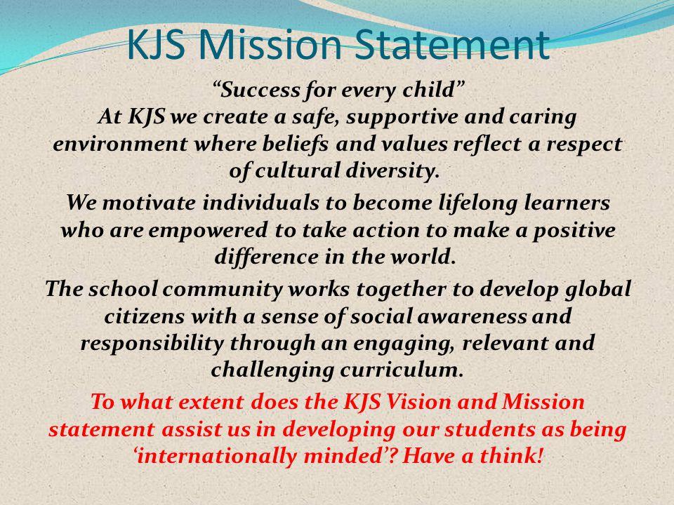 KJS Mission Statement