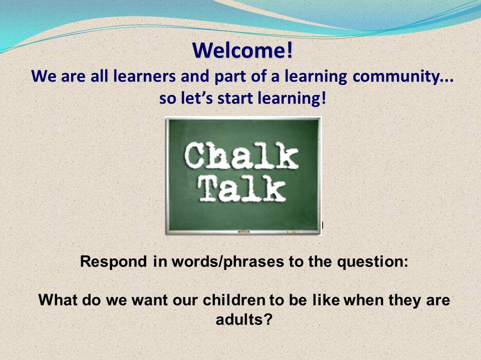 Chalk Talk: a silent conversation