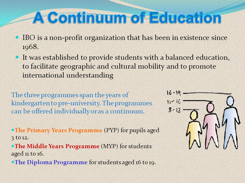 A Continuum of Education