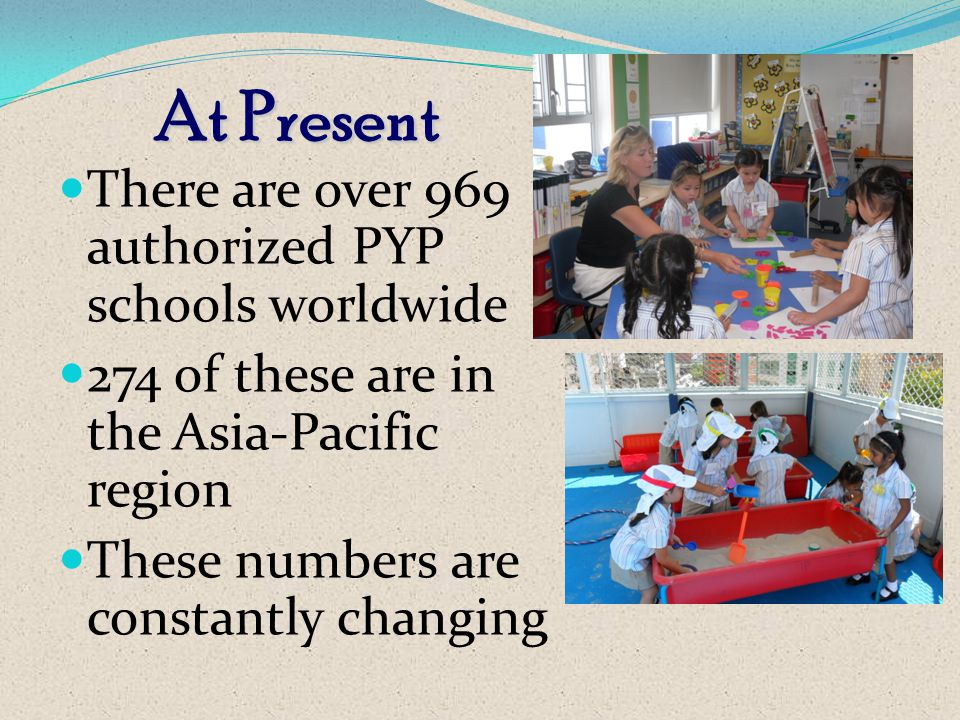 At Present There are over 969 authorized PYP schools worldwide