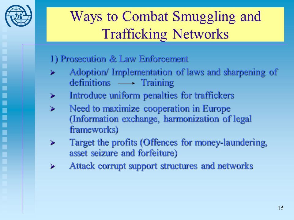 Ways to Combat Smuggling and Trafficking Networks