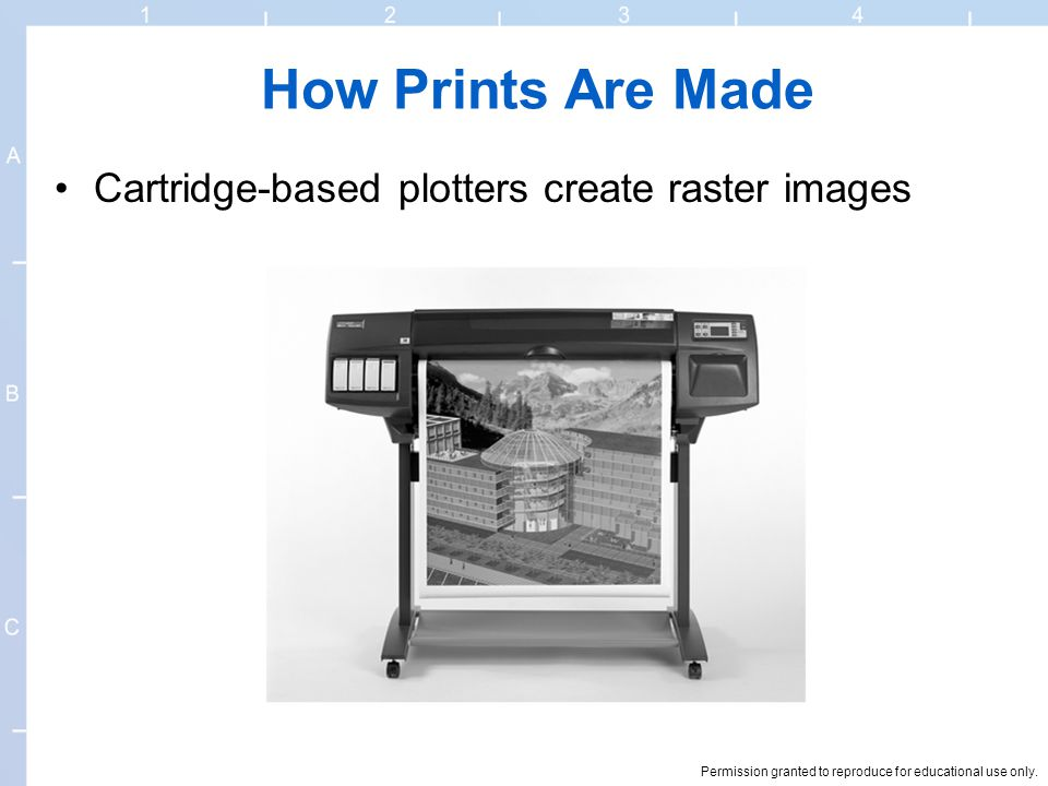 How Prints Are Made Cartridge-based plotters create raster images