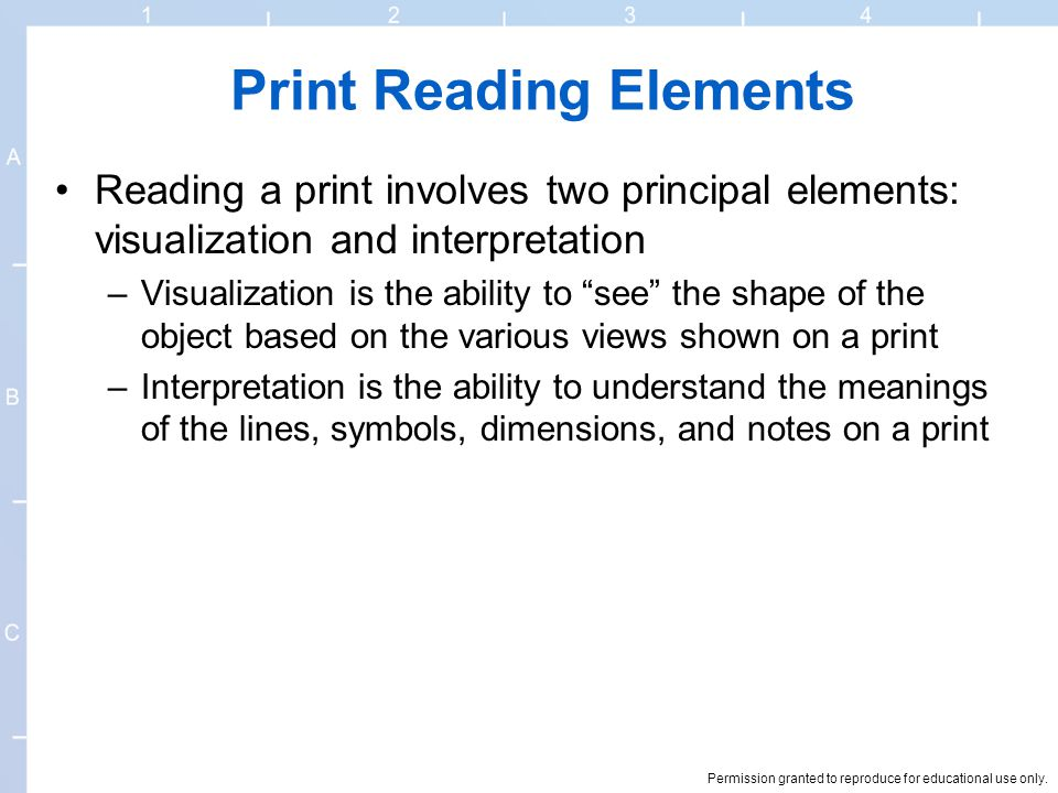 Print Reading Elements