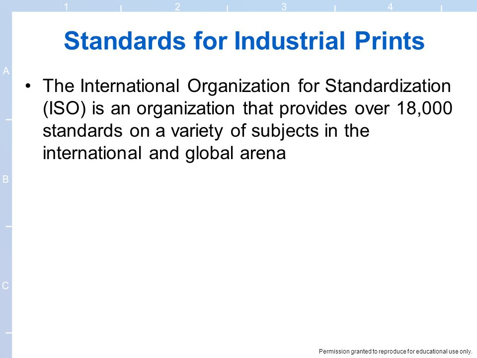 Standards for Industrial Prints