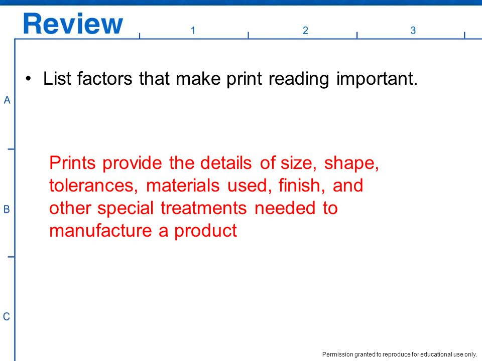 List factors that make print reading important.