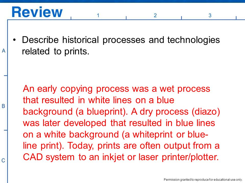 Describe historical processes and technologies related to prints.