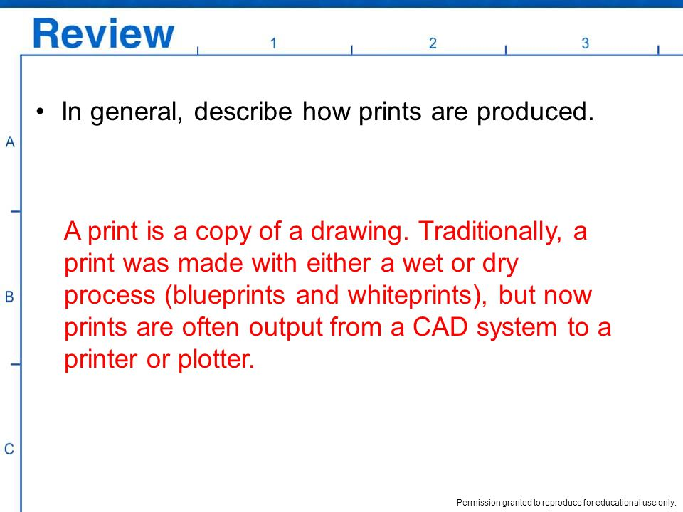 In general, describe how prints are produced.