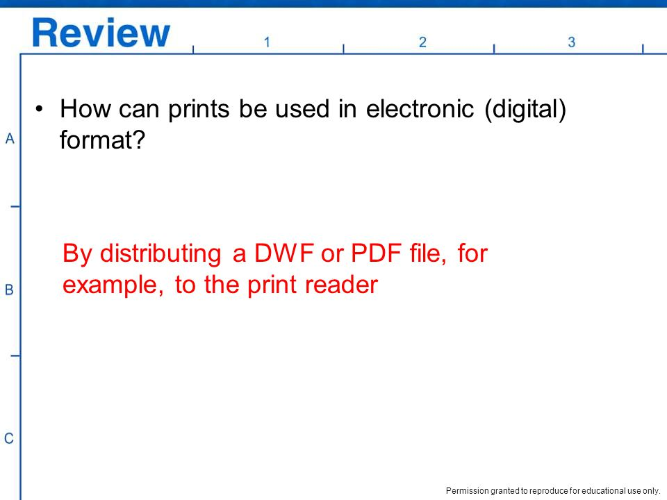 How can prints be used in electronic (digital) format