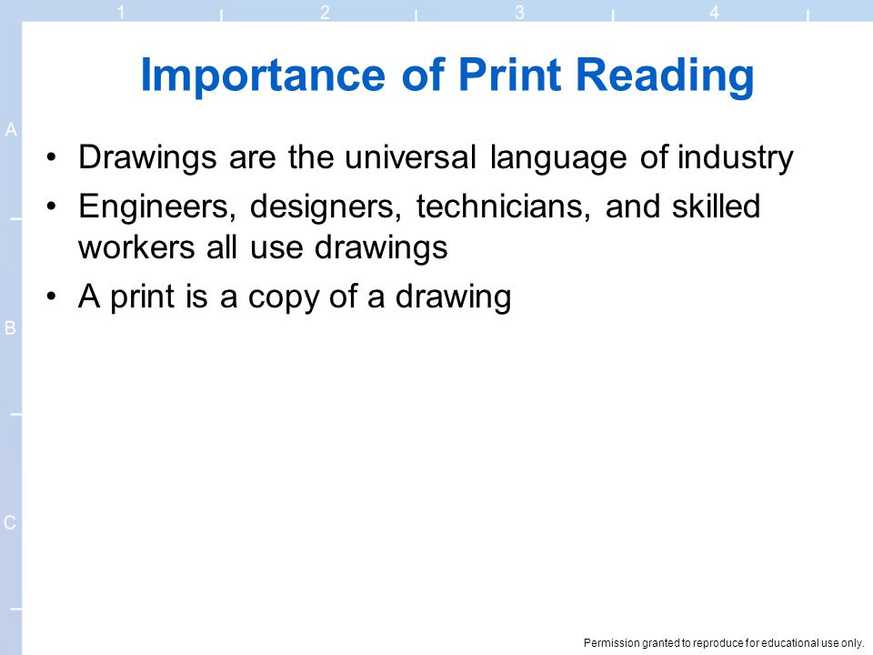 Importance of Print Reading