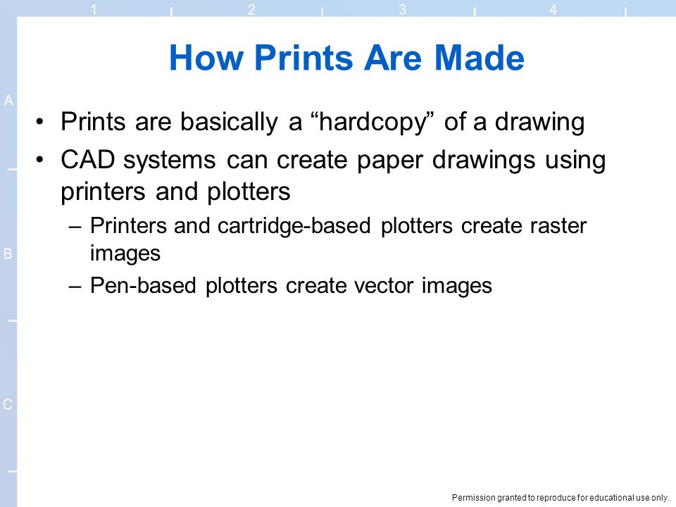 How Prints Are Made Prints are basically a hardcopy of a drawing