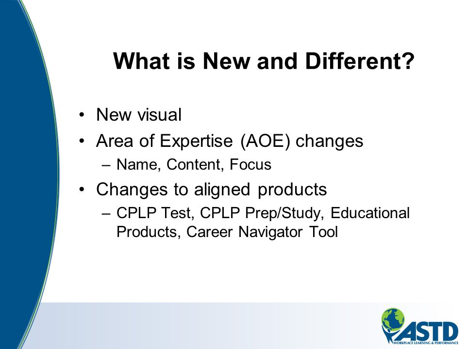 What is New and Different