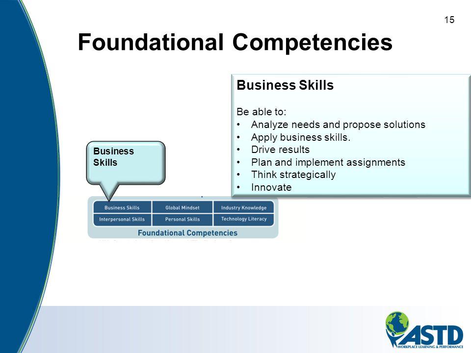 Foundational Competencies